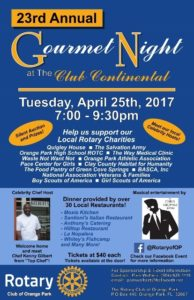 23rd Annual Gourmet Night 2017