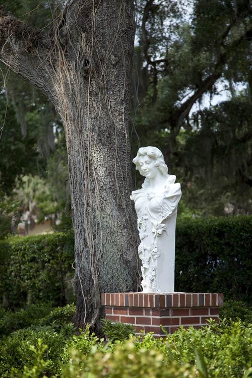 Garden Sculpture of woman