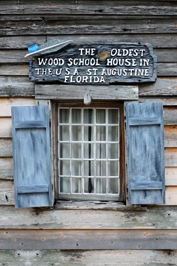 Oldest Wooden Schoolhouse window