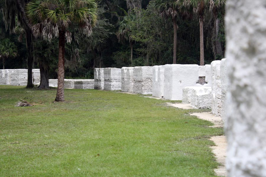 slave quarters ruins at Kingsley Plantation