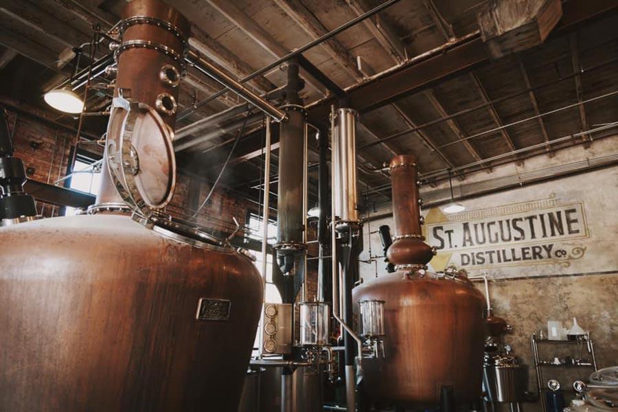 St Augustine Distillery copper stills