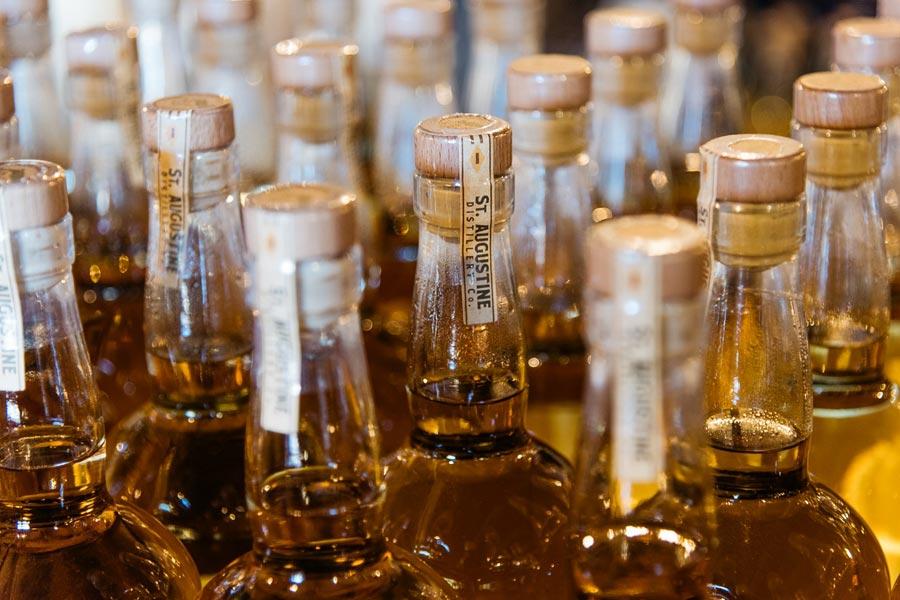 St Augustine Distillery whiskey bottles