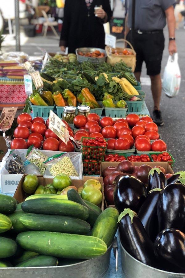 produce at Riverside Arts Market 2021