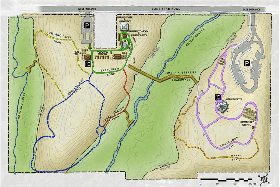 Tree Hill Nature Center trail map