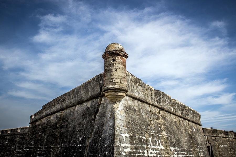 Castillo de San Marcos battlements and turret